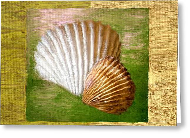 Seashell Digital Art Greeting Cards - Beach Memoirs Greeting Card by Lourry Legarde