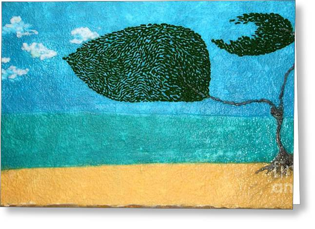 North Vancouver Paintings Greeting Cards - Beach Moment Greeting Card by Shae Vere