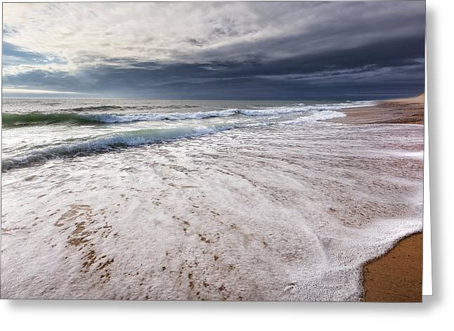 Dunes Greeting Cards - Beach Morning Greeting Card by Bill  Wakeley