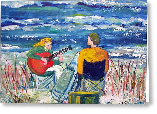 Beach Music Greeting Card by Patricia Taylor