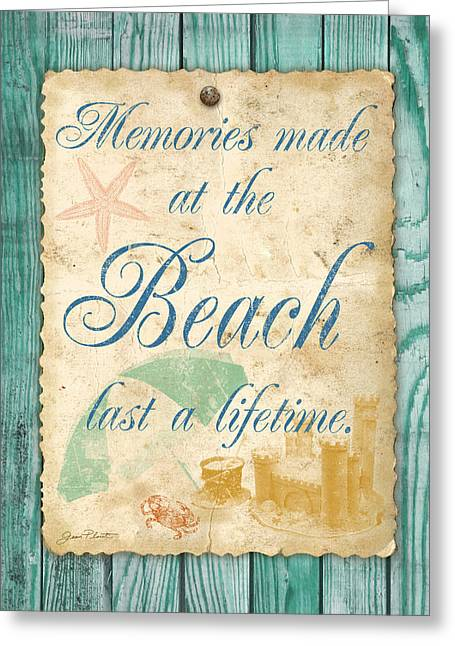 Lawn Chair Greeting Cards - Beach Notes-A Greeting Card by Jean Plout