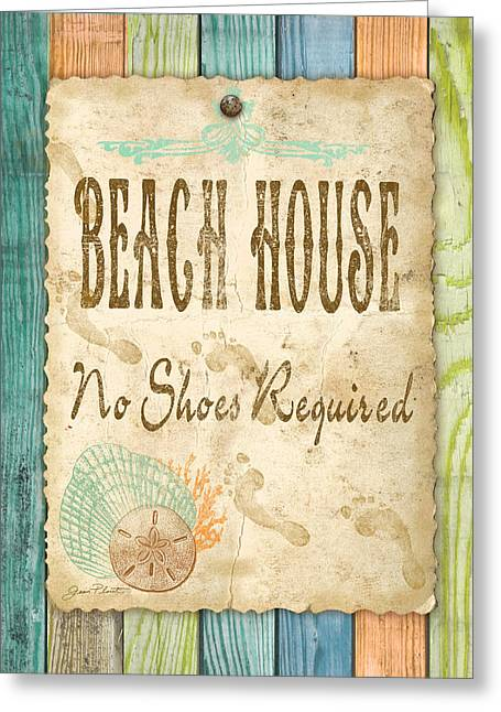 Lawn Chair Greeting Cards - Beach Notes-D Greeting Card by Jean Plout