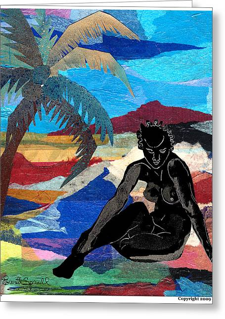 Harlem Renaissance Greeting Cards - Beach Nude 3 Greeting Card by Everett Spruill
