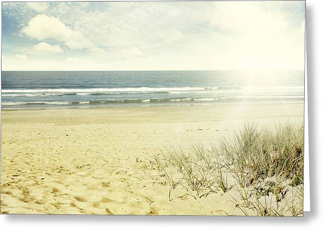 Beautiful Scenery Greeting Cards - Beach NZ Greeting Card by Les Cunliffe