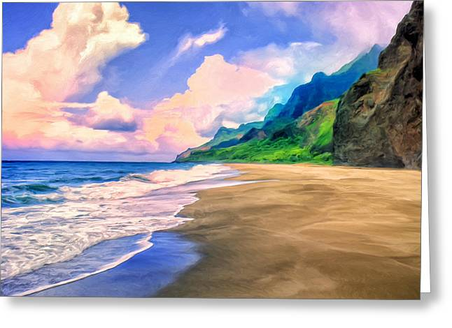 Recently Sold -  - Lahaina Greeting Cards - Beach on the Na Pali Coast Greeting Card by Dominic Piperata