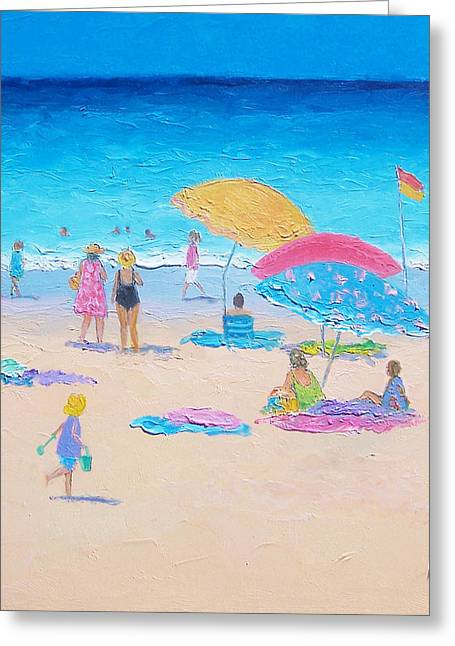 Ocean Art. Beach Decor Greeting Cards - Beach Painting - Colors of Summer  Greeting Card by Jan Matson