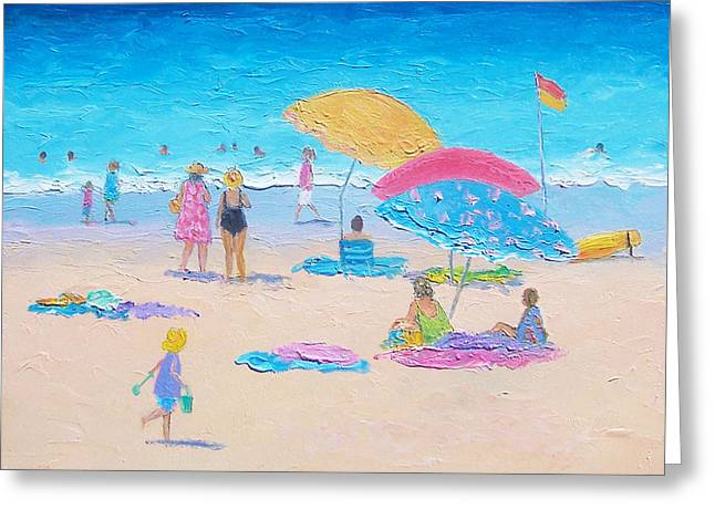 Beach Cottage Style Greeting Cards - Beach Painting - Colors of Summer  Greeting Card by Jan Matson