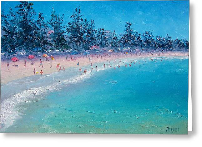 Ocean Art. Beach Decor Greeting Cards - Manly Beach  Greeting Card by Jan Matson