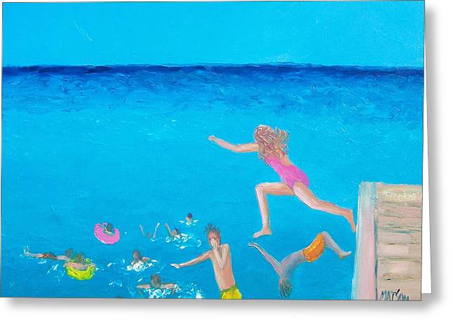 Ocean Art. Beach Decor Greeting Cards - The Divers Greeting Card by Jan Matson