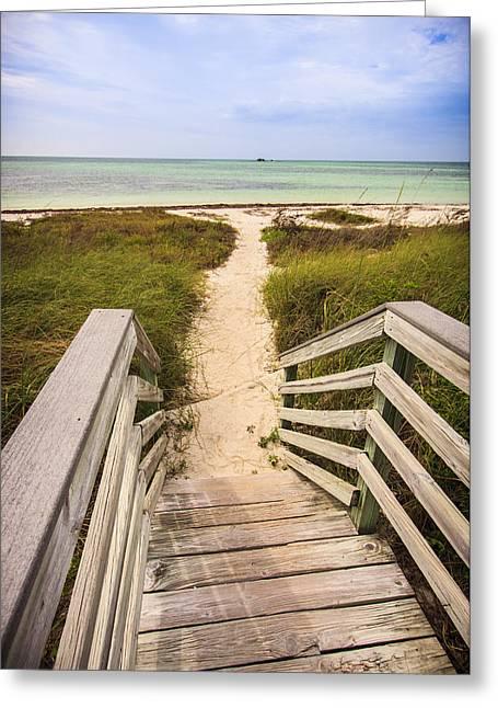 Bahia Honda State Park Greeting Cards - Beach Path Greeting Card by Adam Romanowicz