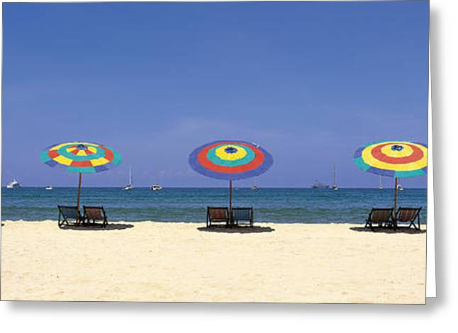 Ease Greeting Cards - Beach Phuket Thailand Greeting Card by Panoramic Images