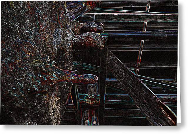 Mind Freedom. Art Therapy Greeting Cards - Beach Pier Spiked Greeting Card by Kenneth James