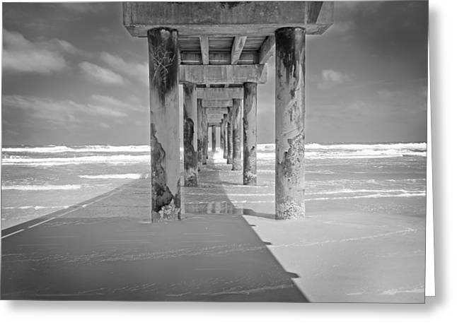 St. Augustine Greeting Cards - Beach Pier Greeting Card by Steven  Michael