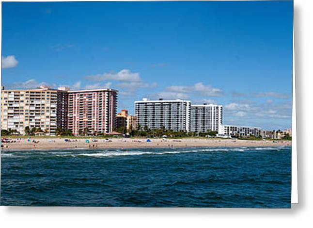 Beach Photography Greeting Cards - Beach, Pompano Beach, Florida, Usa Greeting Card by Panoramic Images