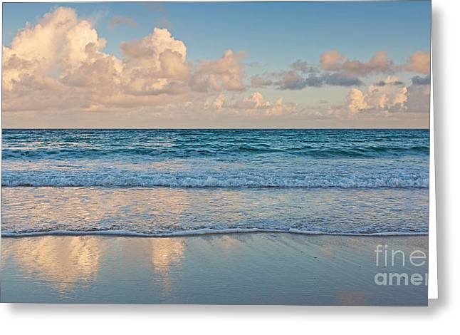 Tidal Photographs Greeting Cards - Beach reflection Greeting Card by Richard Thomas