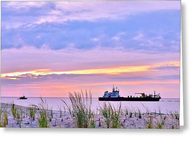 Bethany Beach Greeting Cards - Beautiful Sunrise at the Beach Greeting Card by Kim Bemis