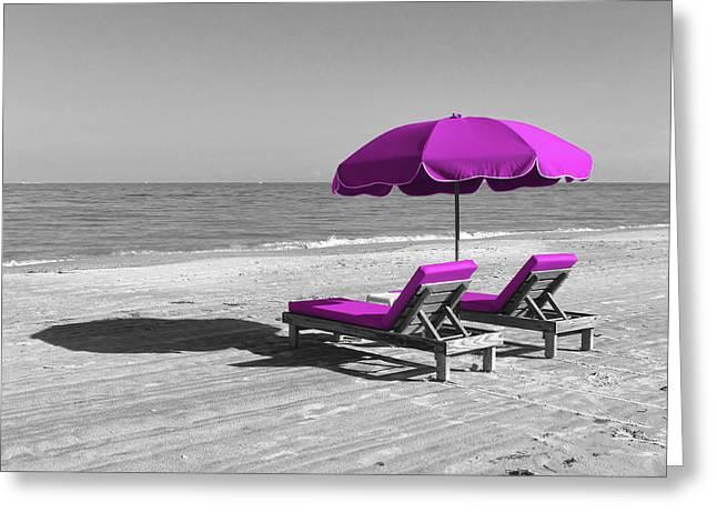 Sandy Beaches Greeting Cards - Beach Retirement Greeting Card by Daniel Hagerman