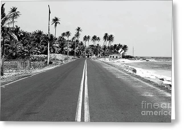 Beach Road Greeting Cards - Beach Road Greeting Card by John Rizzuto