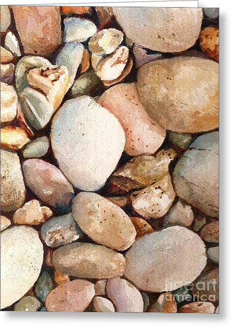 Andrea Timm Greeting Cards - Beach Rocks Greeting Card by Andrea Timm