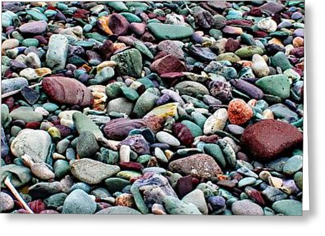 On The Beach Greeting Cards - Beach Rocks Horizontal Greeting Card by Barbara Griffin