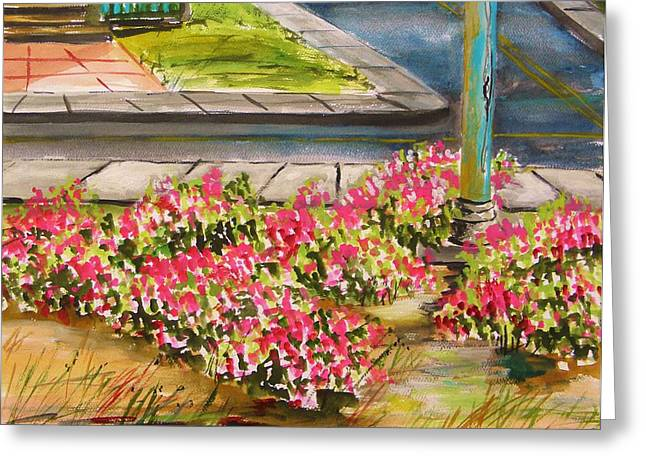 Sandy Beaches Drawings Greeting Cards - Beach Roses at Main Avenue Greeting Card by John  Williams