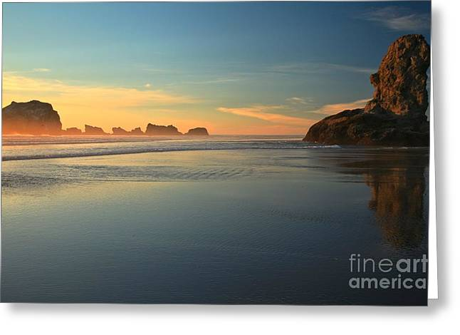 Beach Rudder Greeting Card by Adam Jewell
