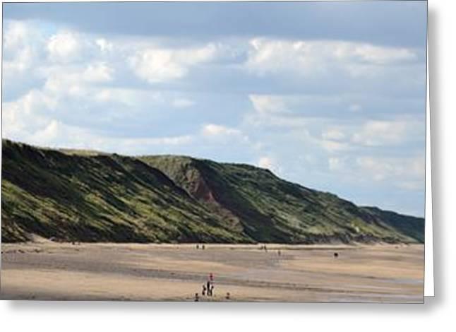 Kite Surfing Greeting Cards - Beach - Saltburn Hills - UK Greeting Card by Scott Lyons