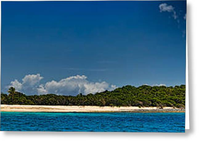 Cay Greeting Cards - Beach, Sandy Cay, Tortola, British Greeting Card by Panoramic Images
