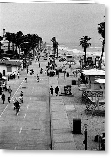 Beach Road Greeting Cards - Beach Scene Greeting Card by Alexander Snay