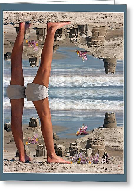 Beach Scene Greeting Card by Betsy C Knapp