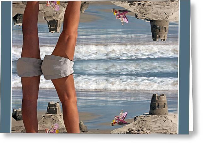 Beach Scene Greeting Card by Betsy C  Knapp