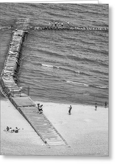 Shorewood Greeting Cards - Beach Scene in Milwaukee Greeting Card by Chris Tobias