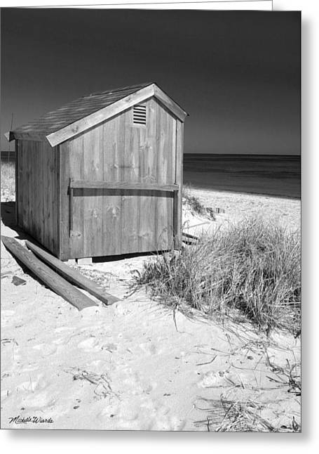Michelle Greeting Cards - Beach Shed Greeting Card by Michelle Wiarda