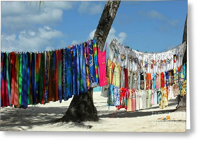Colorful Photography Greeting Cards - Beach Shop Greeting Card by Sophie Vigneault