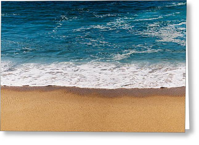 California Ocean Photography Greeting Cards - Beach Shoreline In Todos Santos, Baja Greeting Card by Panoramic Images