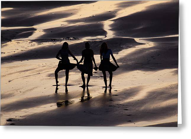 Poster Art Greeting Cards - Beach Show  Greeting Card by Jb Atelier
