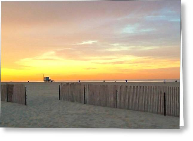 California Beach Art Greeting Cards - Beach Solitude Greeting Card by Art Block Collections