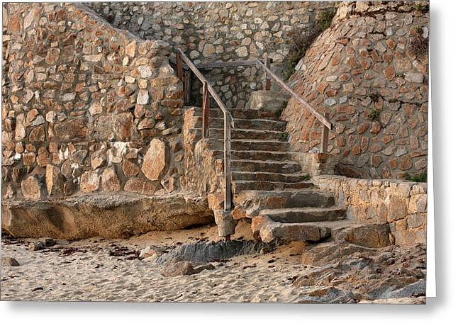 Pacific Grove Beach Greeting Cards - Beach Stairs Greeting Card by Art Block Collections