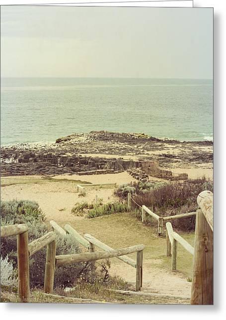 Beach Steps Greeting Card by Elaine Teague