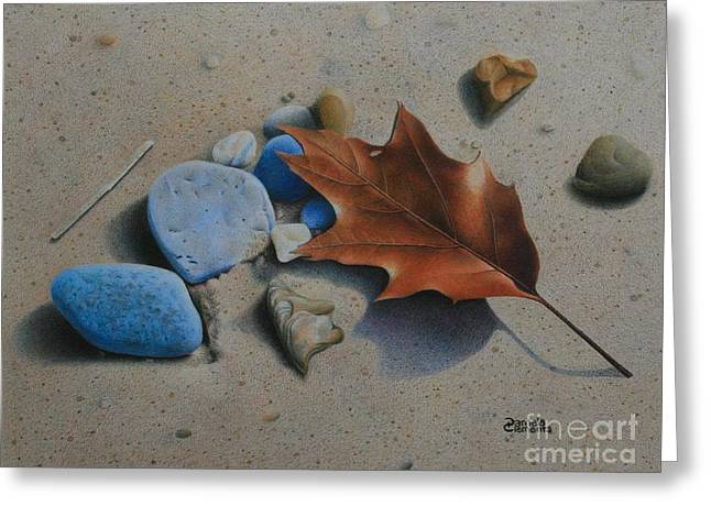 Sand Art Greeting Cards - Beach Still Life II Greeting Card by Pamela Clements