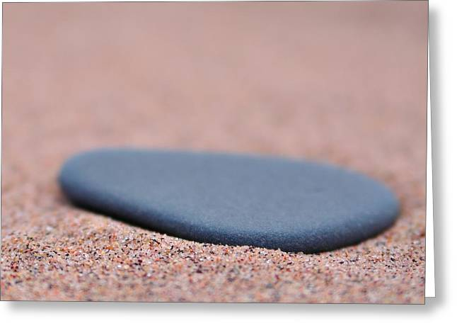Todd Soderstrom Greeting Cards - Beach Stone at Park Point Minnesota Greeting Card by Todd Soderstrom