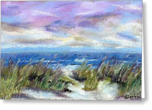 Beach Landscape Pastels Greeting Cards - Beach Storm I Greeting Card by Scott Derrick