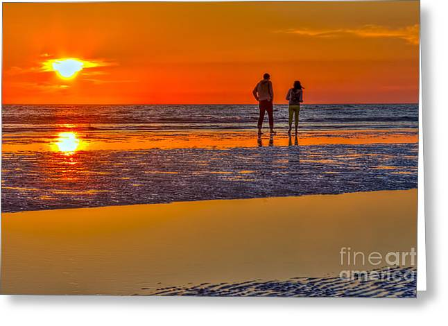 Walking On Water Greeting Cards - Beach Stroll Greeting Card by Marvin Spates