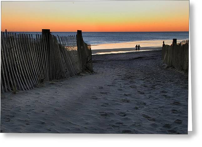 Duxbury Greeting Cards - Beach Stroll Greeting Card by Steven David Roberts