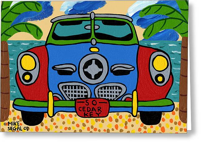 Mike Segal Greeting Cards - Beach Studebaker Greeting Card by Mike Segal
