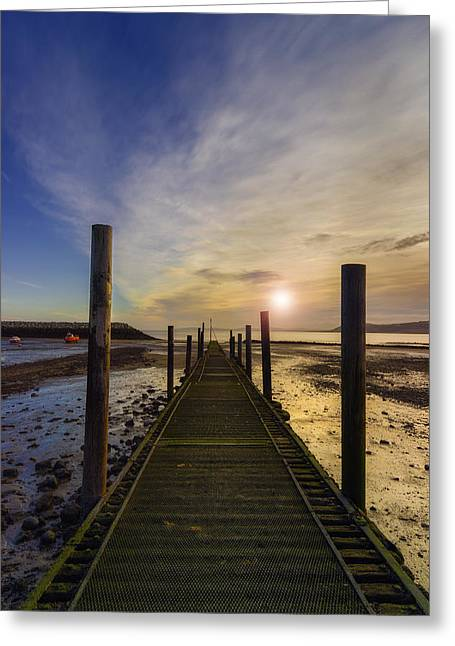 Seacapes Greeting Cards - Beach Sunrise v2 Greeting Card by Ian Mitchell