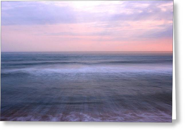 Going Down Greeting Cards - Beach Sunset Greeting Card by Gina Dsgn