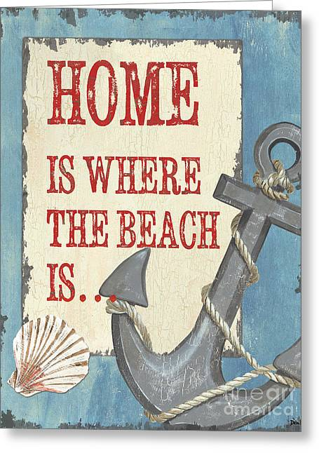 Beach Decor Paintings Greeting Cards - Beach Time 2 Greeting Card by Debbie DeWitt