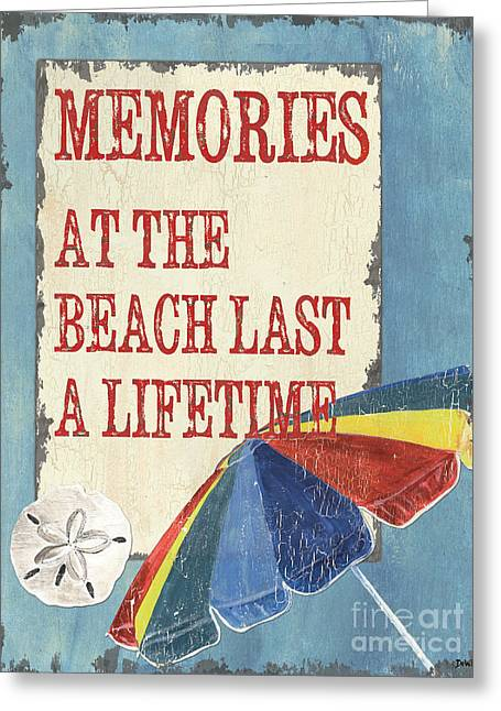 Beach Decor Paintings Greeting Cards - Beach Time 3 Greeting Card by Debbie DeWitt