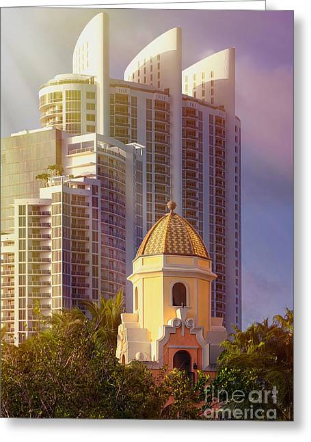 Ddmitr Greeting Cards - Beach Towers Greeting Card by Dmitry Chernomazov